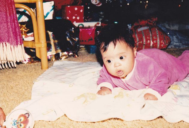 Enrica's first Christmas, when the presents were still bigger than
