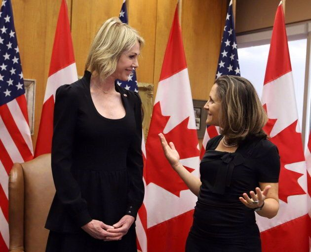 United States Ambassador to Canada Kelly Craft meets with Foreign Affairs Minister Chrystia Freeland...