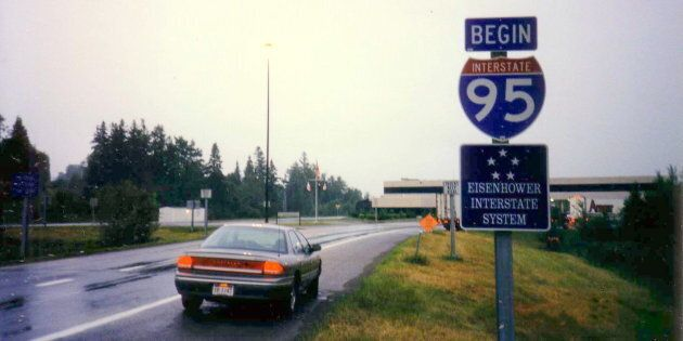 Interstate 95 on the American side of the Houlton-Woodstock Border