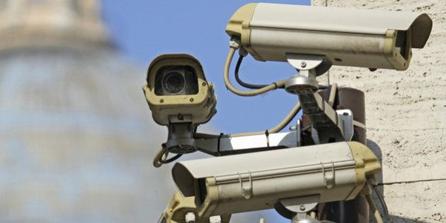 four surveillance camera to see all main points of the great