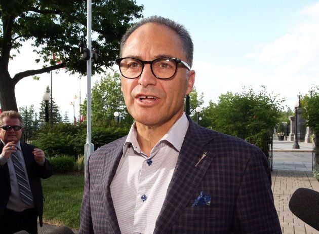 Alberta Finance Minister Joe Ceci in Edmonton on June 29,