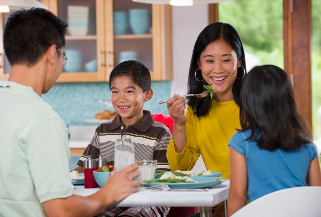 Having family dinners is more important than restricting