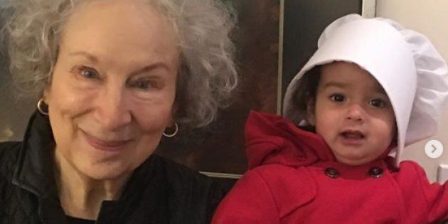 Margaret Atwood with Madeleine