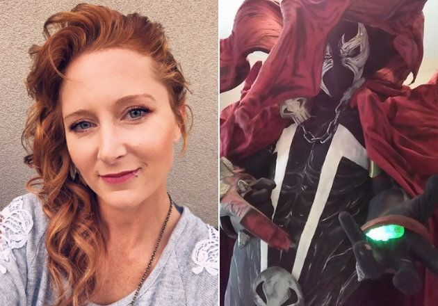 Barber Katie Nagy (l) has created some elaborate cosplay in the past, like this Spawn costume, but the...