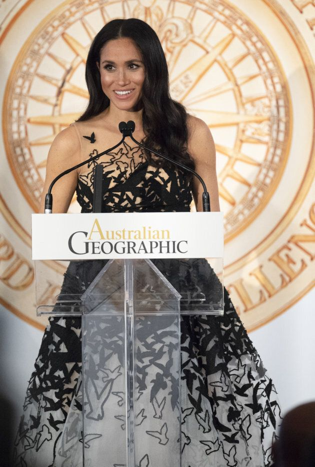 Meghan Markle attends the Australian Geographic Society Awards on Oct. 26, 2018 in Sydney,