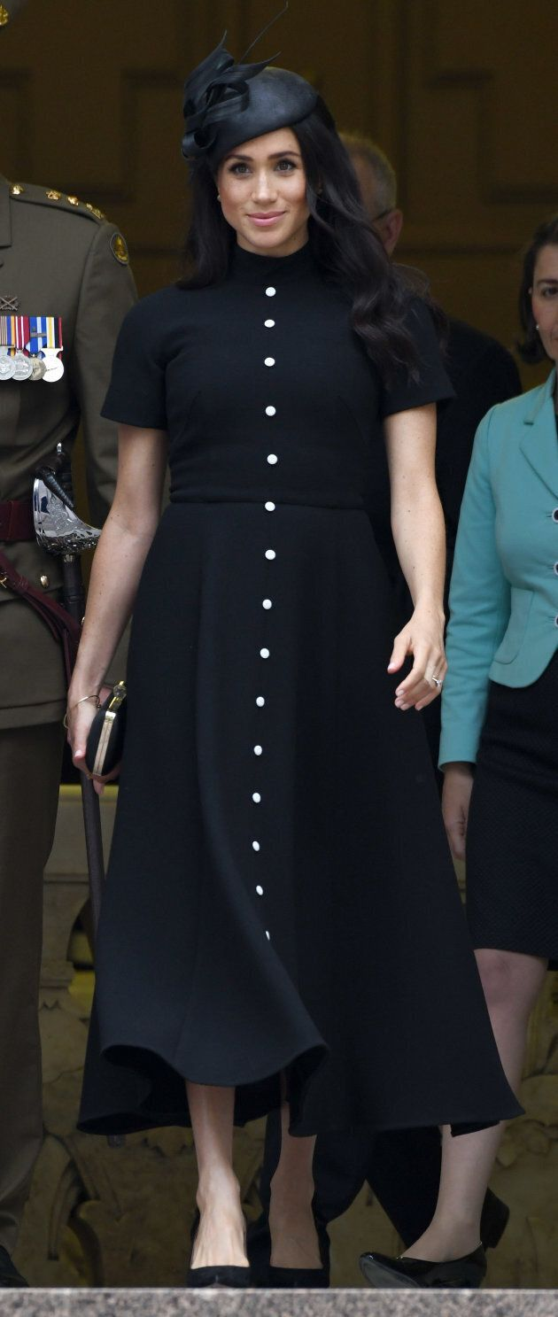 The Duchess of Sussex attends the official opening of the extension of the ANZAC Memorial in Hyde Park on Oct. 20, 2018 in Sydney, Australia.