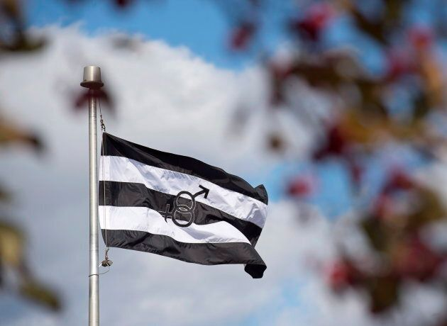The straight-pride flag in Chipman, N.B. on Oct. 22,