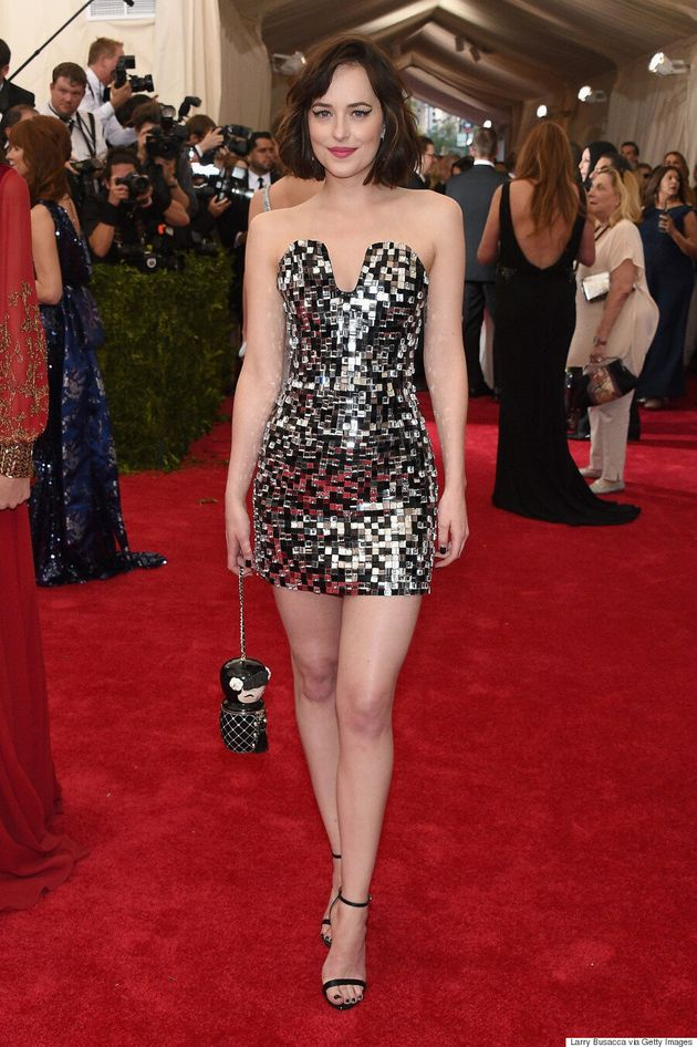 Dakota Johnson's Met Gala 2015 Dress Shows A Lot Of