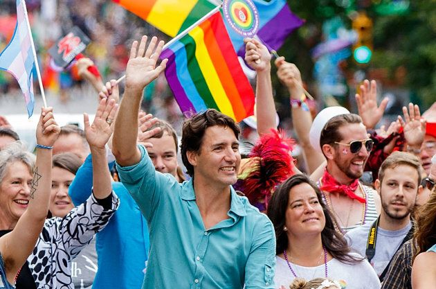 Prime Minister Justin Trudeau attends the 38th Annual Vancouver Pride Parade on July 31, 2016 in Vancouver, B.C.