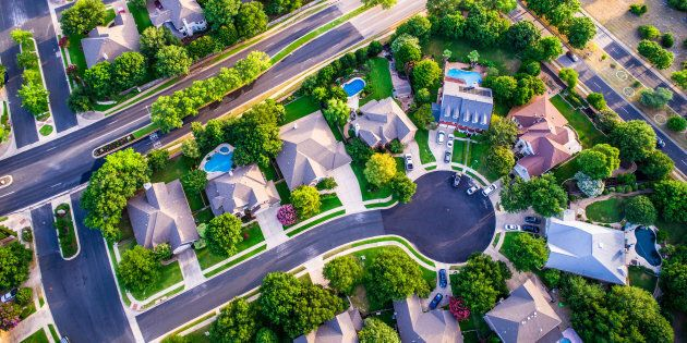 An aerial view of homes in a suburban development. A new survey for realtor Sotheby's finds the vast...