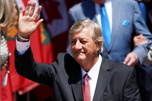 Former Premier Mike Harris attends Ontario Premier Doug Ford's swearing in ceremony in Toronto, Ont....