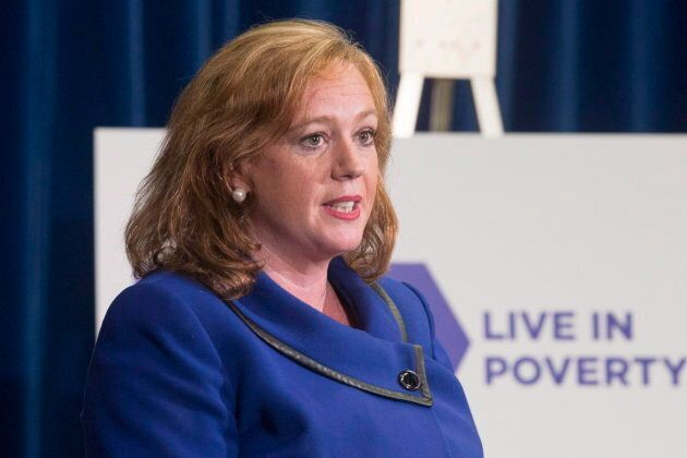 Lisa Macleod, Ontario's Children, Community and Social Services Minister, announces welfare rates will...