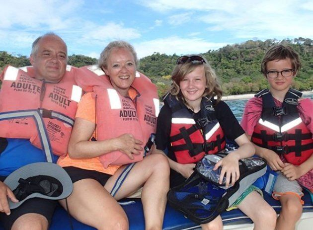 The Kistormas enjoy some family time in Costa Rica.
