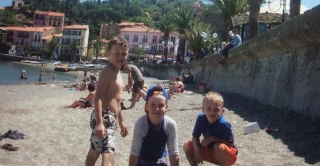 Walmsley's three sons on the family's last sabbatical leave in