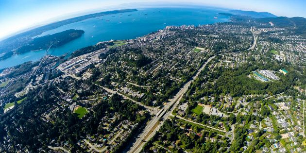 An aerial view of West Vancouver, one of Canada's most pricey real estate markets. The Vancouver region...