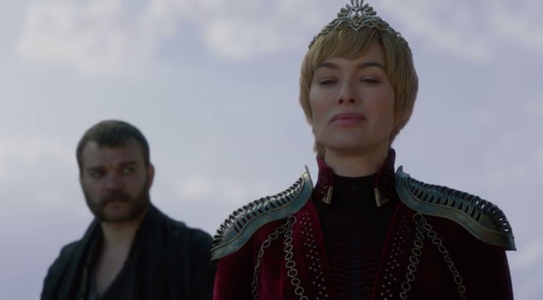 Euron behind Cersei during the meetup with Dany and