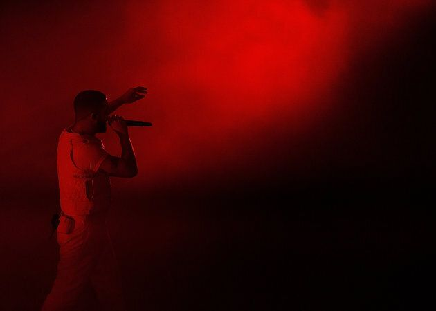 Drake performs at the Rogers Arena in Vancouver on November