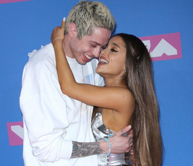 Ariana Grande and Pete Davidson in the good old days, at the 2018 MTV Video Music Awards in New York.