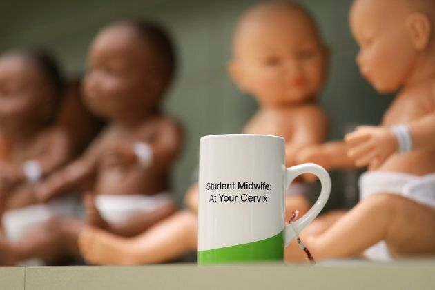 Inside a classroom at a midwifery class at Ryerson University in Toronto.