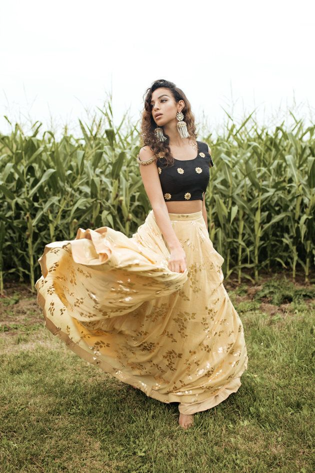 Whether you're celebrating in a corn fields or dance floors, this look will serve you well.