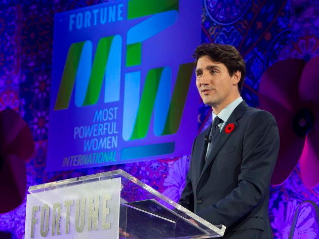 PM Trudeau at the Fortune Most Powerful Women International Summit in Montreal on Nov. 5,