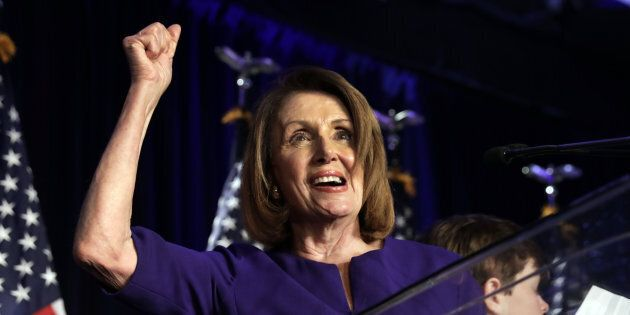 House Minority Leader Nancy Pelosi declared victory as her party took back the House of Representatives...