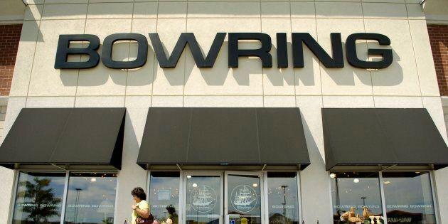 A Bowring store is pictured on Aug. 25,