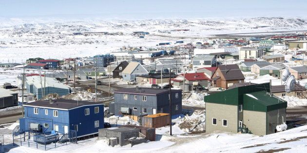 A scene from Iqaluit on April 25, 2015.