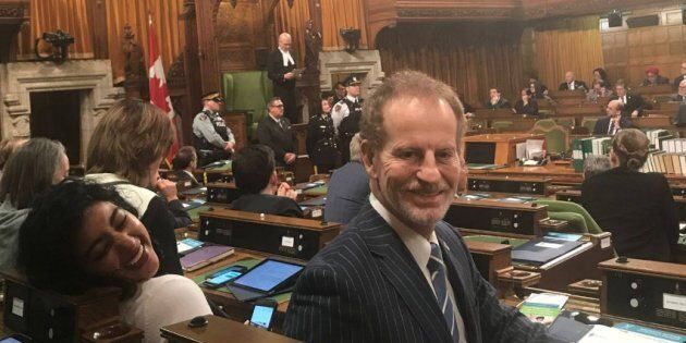 Liberal MP Nicola Di Iorio is shown in the House of Commons in an undated photo posted to his Facebook