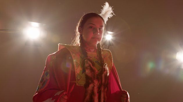 """Still from """"Full Circle,"""" a short film directed by Kristi Lane Sinclair with members of the Toronto Council Fire Native Cultural Centre."""