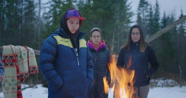 """Still from """"Some Stories...,"""" a short film directed by Clayton Windatt with members of the North Bay Indigenous Friendship Centre."""
