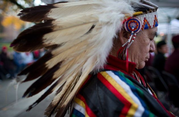 Calvin Pompana, a peacekeeping veteran from the Sioux Valley Dakota Nation near Brandon, Man., pauses...