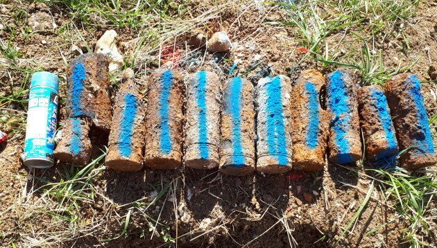 Shells found during de-mining process in June