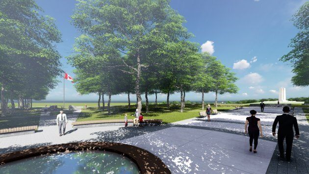 Artist's rendering of The Vimy Foundation Centennial Park designed by Linda