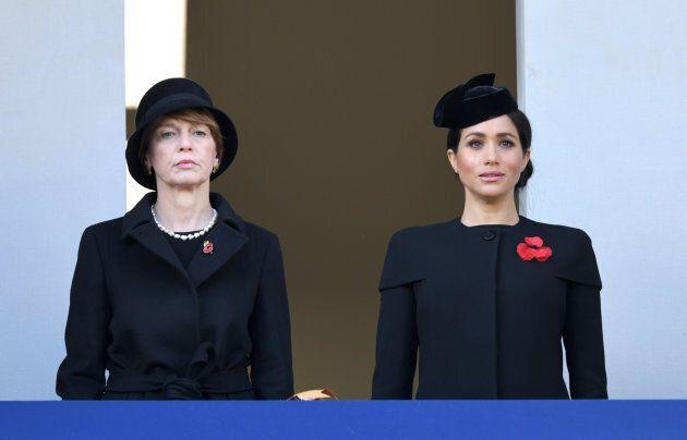Elke Budenbender and Meghan, Duchess of Sussex.