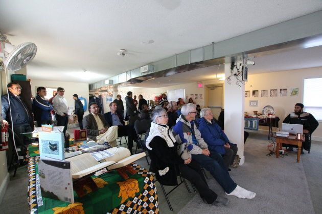 Visitors at Newmarket Islamic Centre in Newmarket, Ont. on Nov 10,