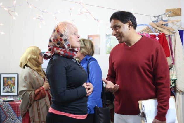 Deep in conversation at Al Huda Institute in Mississauga, Ont. on Nov. 10,