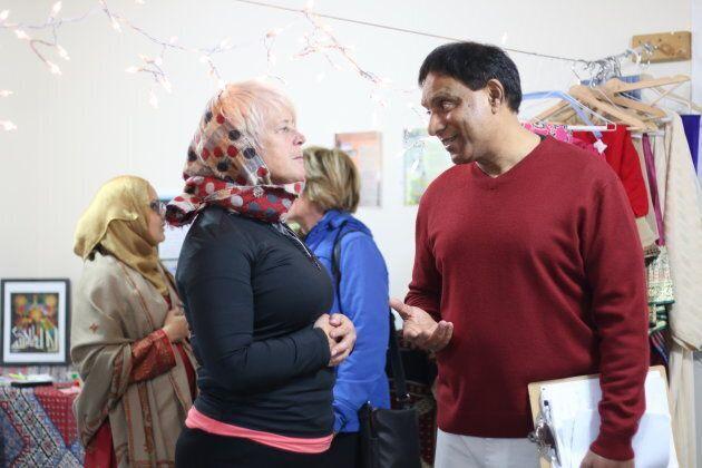 Deep in conversation at Al Huda Institute in Mississauga, Ont. on Nov. 10, 2018.