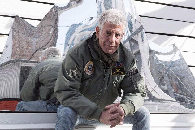 Anthony Bourdain poses for a photo in Toronto on Oct. 31,