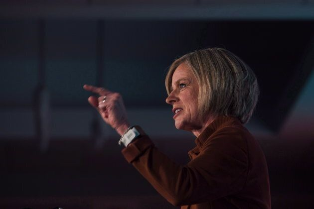 Notley during the Alberta NDP Convention in Edmonton on Oct. 28, 2018.