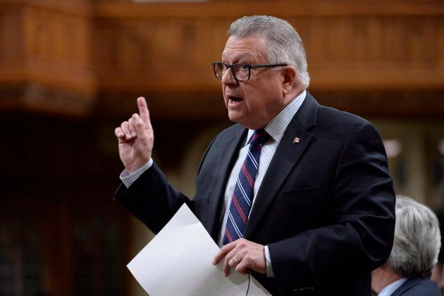 Public Safety Minister Ralph Goodale rises during question period in the House of Commons on Oct. 19,