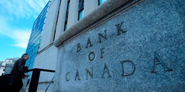 Bank of Canada Governor Stephen Poloz returns to the Bank of Canada after holding a press conference...