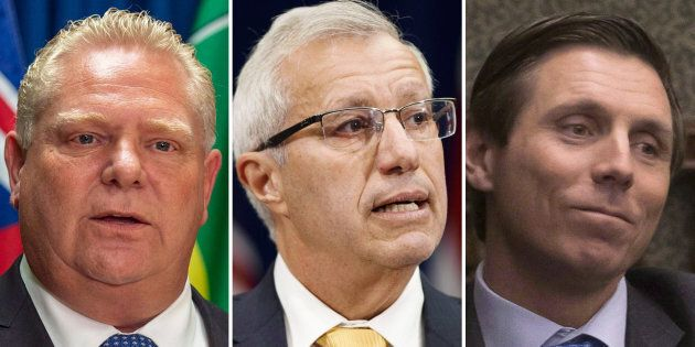 Ontario Premier Doug Ford dismisses allegations of sexual misconduct against the finance minister Vic...