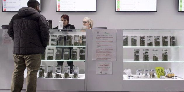 Various marijuana products are pictured at Eden marijuana dispensary in Vancouver, Thursday, Jan. 30,