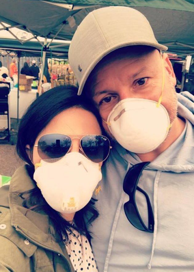 Destee and Paul Klyne from Penticton, B.C. spent their holiday helping Camp Fire victims in California, as pictured here.