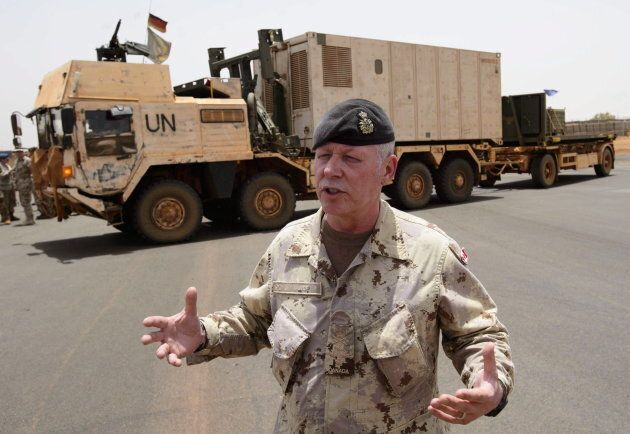 Vance arrives with the first Canadian troops at a UN base in Gao, Mali on June 24,