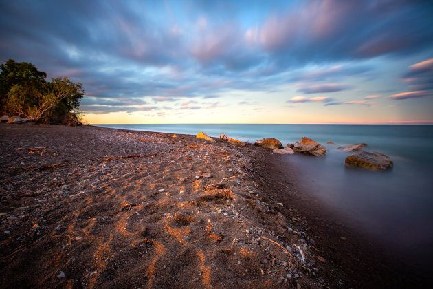 A long exposure at Point Pelee National Park.