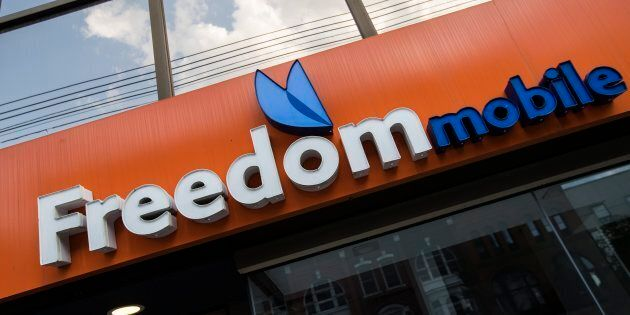 A Freedom Mobile store in Toronto, Sun. July 29,