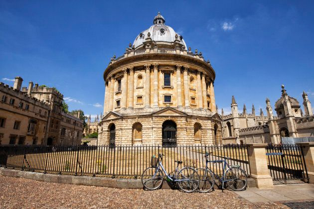 The Radcliffe Camera at Oxford University in England.