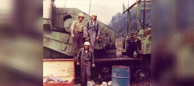 Clockwise from top left: John Cookman, Gary Amundsen, Ken Millar in Powell River, B.C. circa